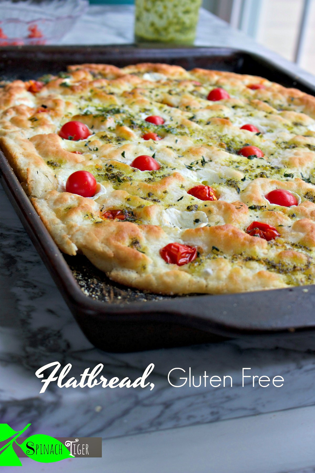 Best Gluten Free Focaccia from Spinach Tiger