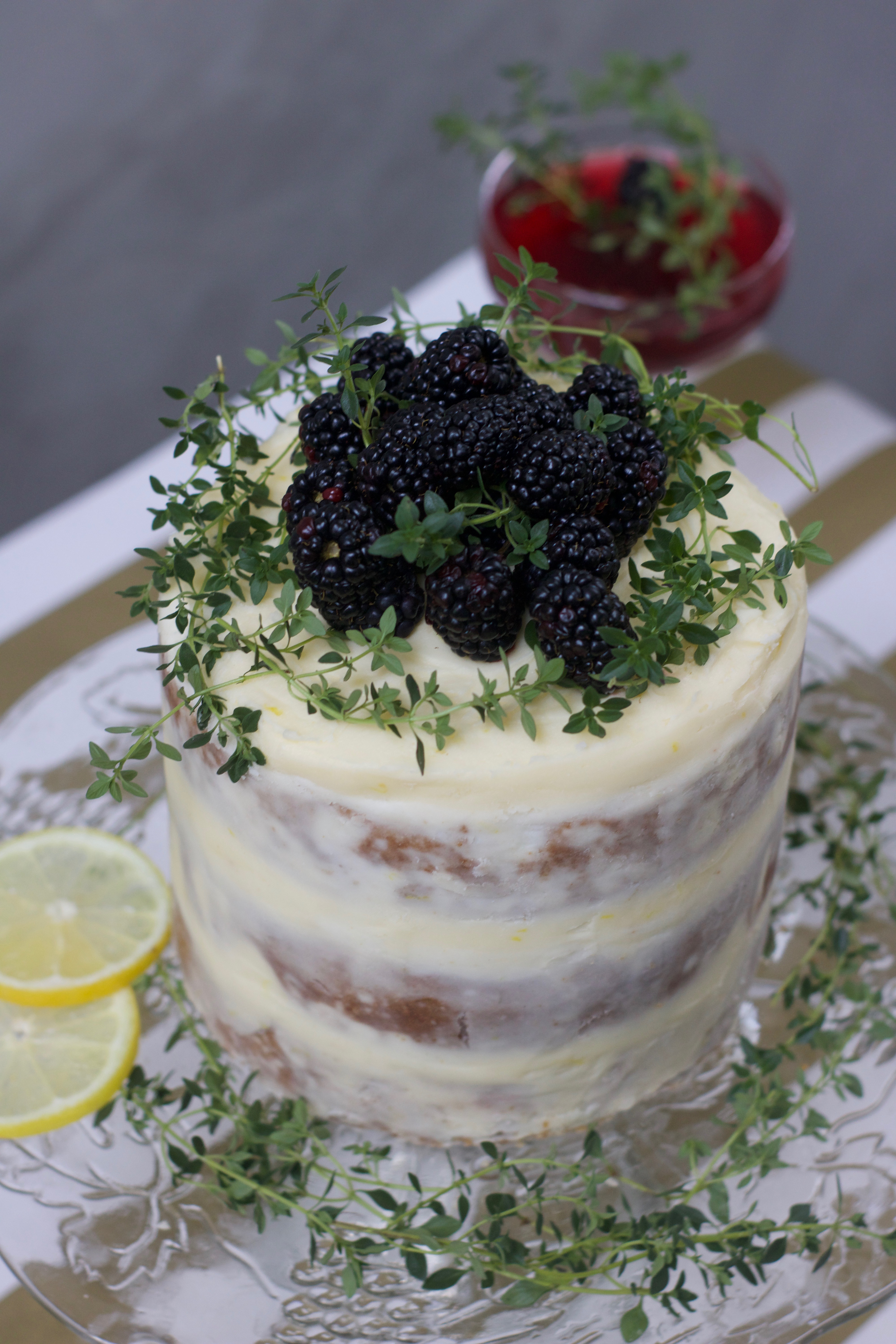 Most Popular Instagram Pictures: Blackberry Cake with Lemon Mascarpone