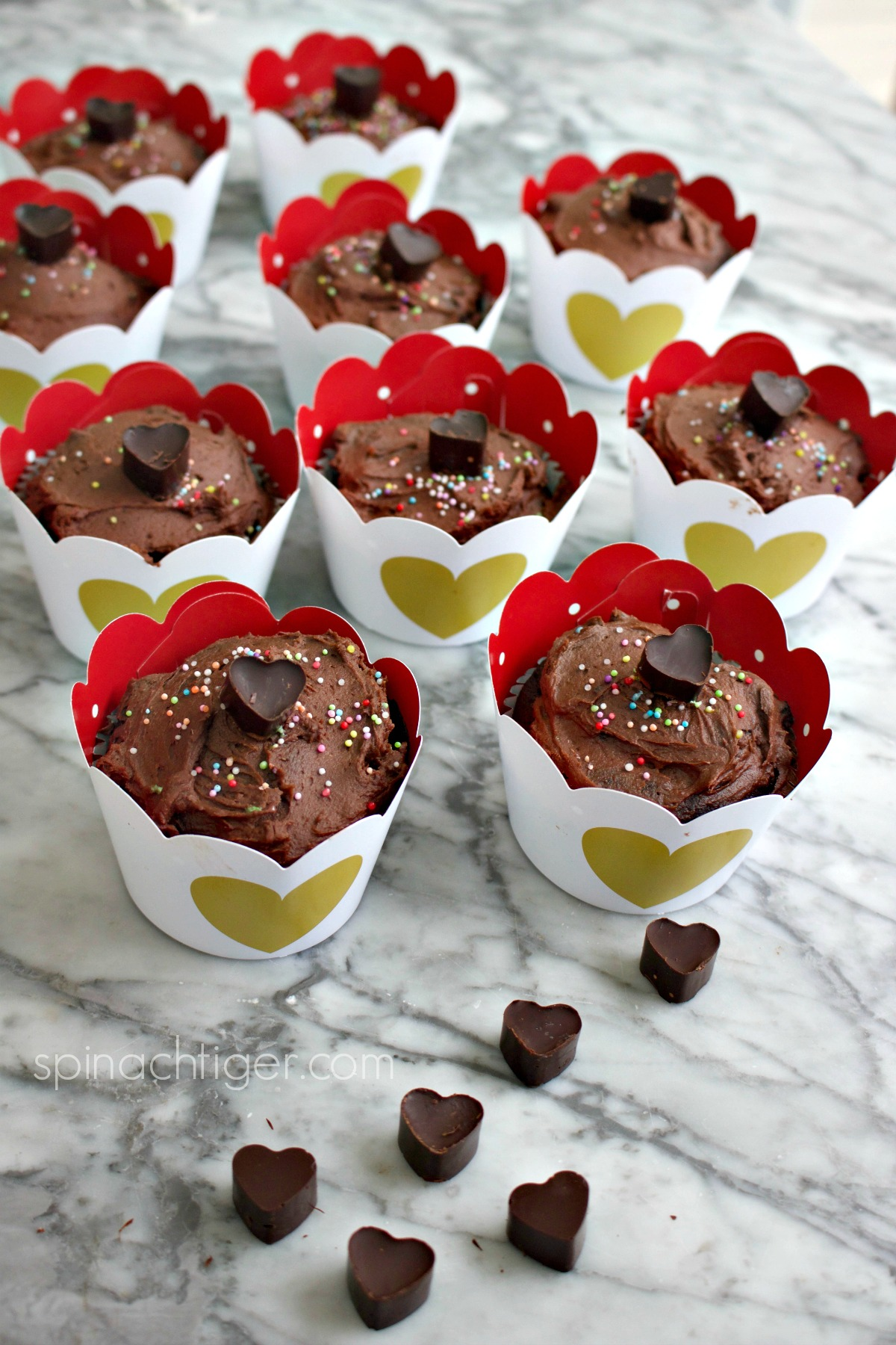 Best Chocolate Low Carb Cupcake Recipe (keto) from Spinach Tiger