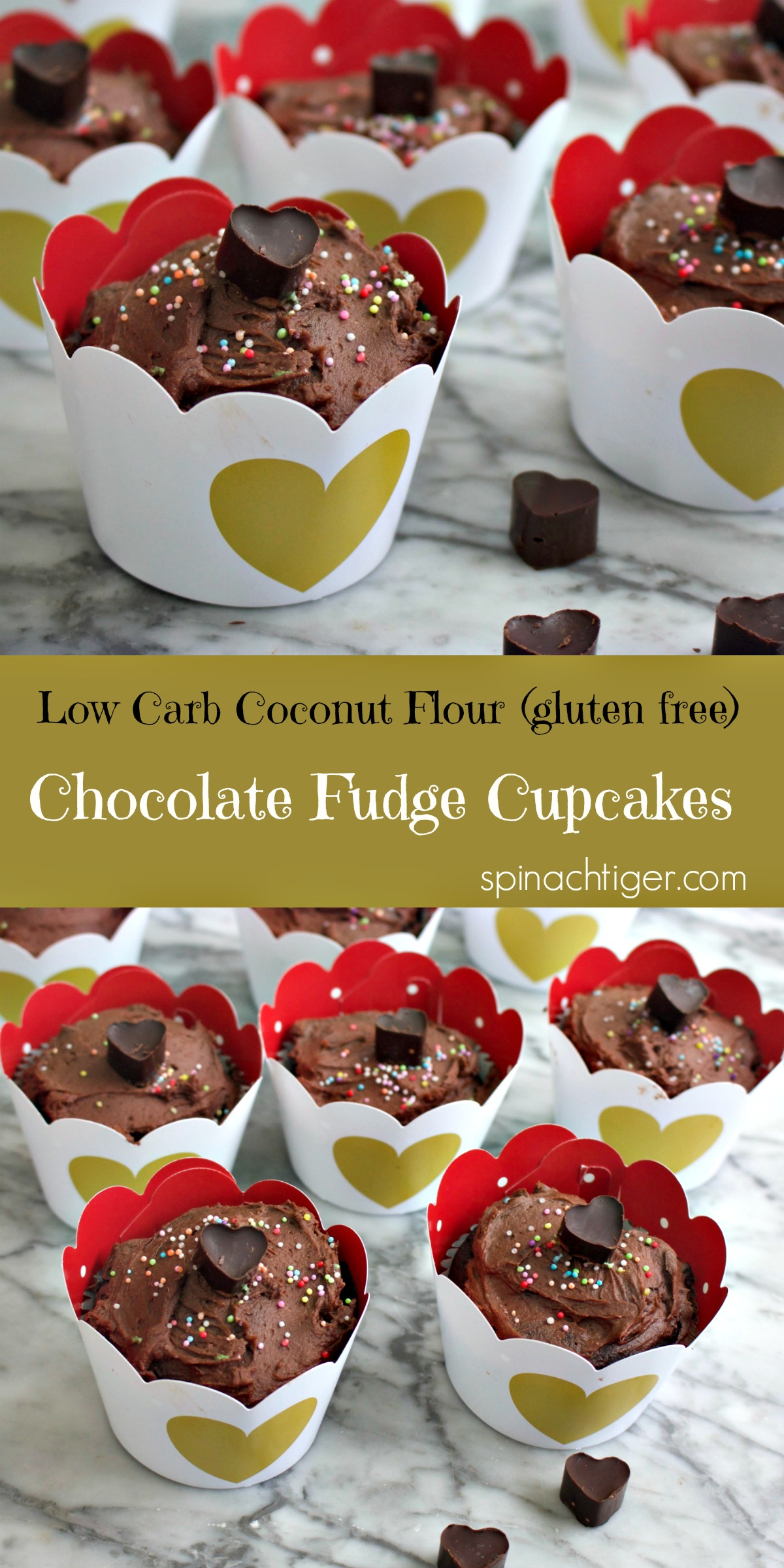 Make the Best Chocolate Keto Low-Carb Cupcake Recipe from Spinach Tiger