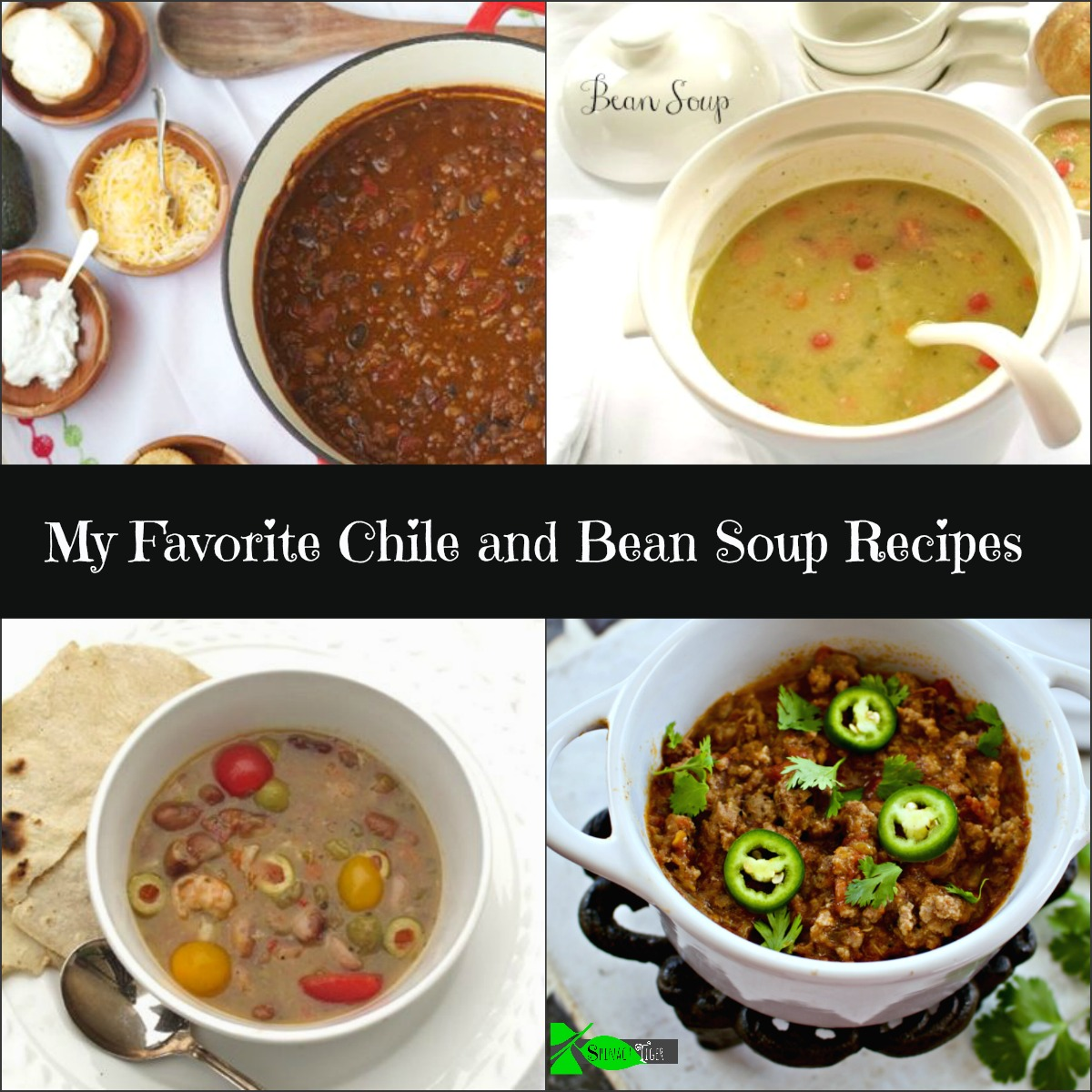 My Favorite Chili & Bean Soup Recipes from Spinach TIger
