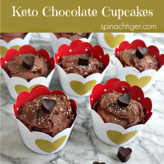 Low Carb Chocolate Cupcakes with Keto Chocolate Frosting