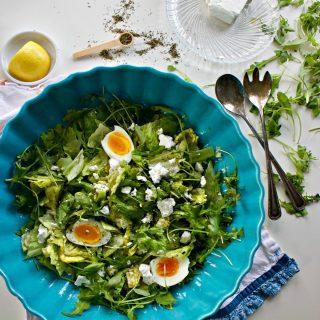 Lemon Vinaigrette Recipe and Soft Hard Boiled Eggs