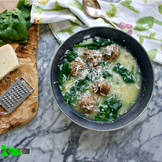 Healthy Italian Wedding Soup, Low Carb from Spinach TIger