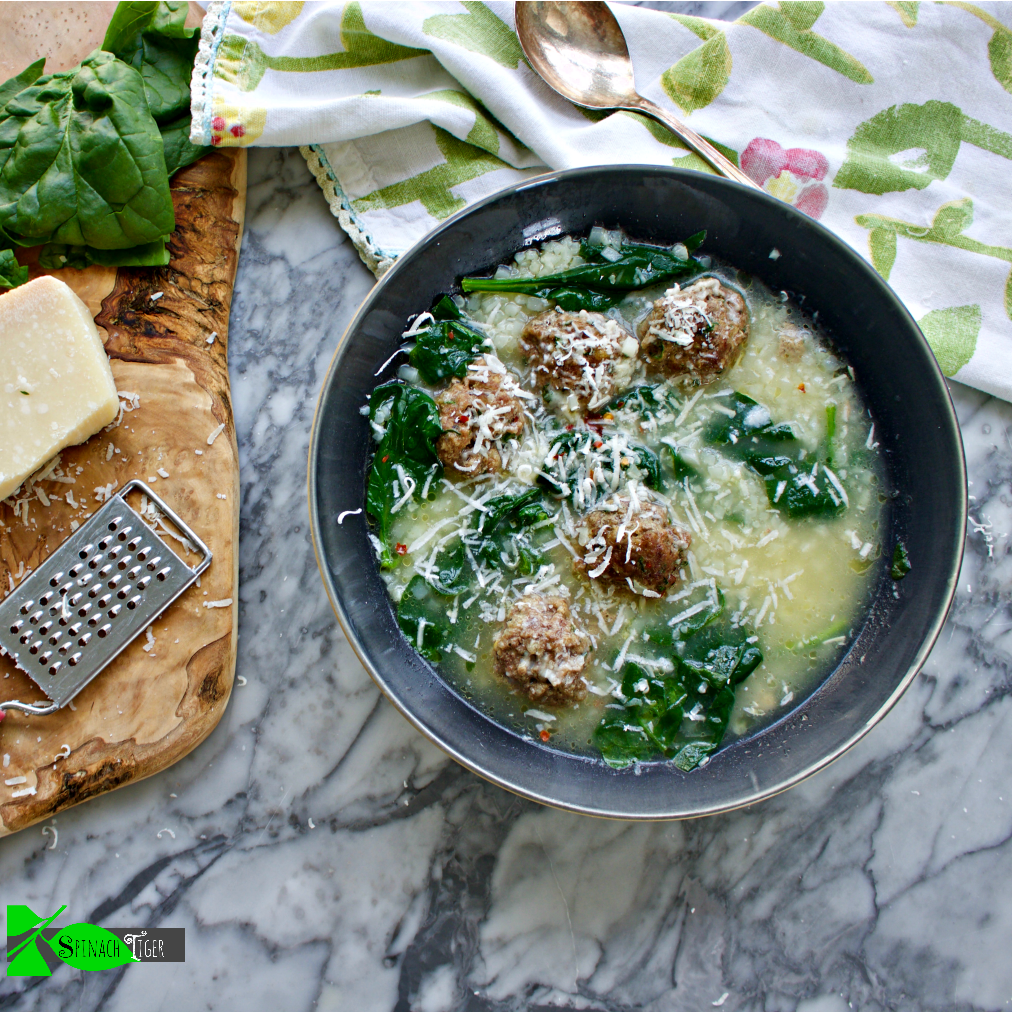 How to Make Easy Italian Wedding Soup from Spinach Tiger (Keto option)
