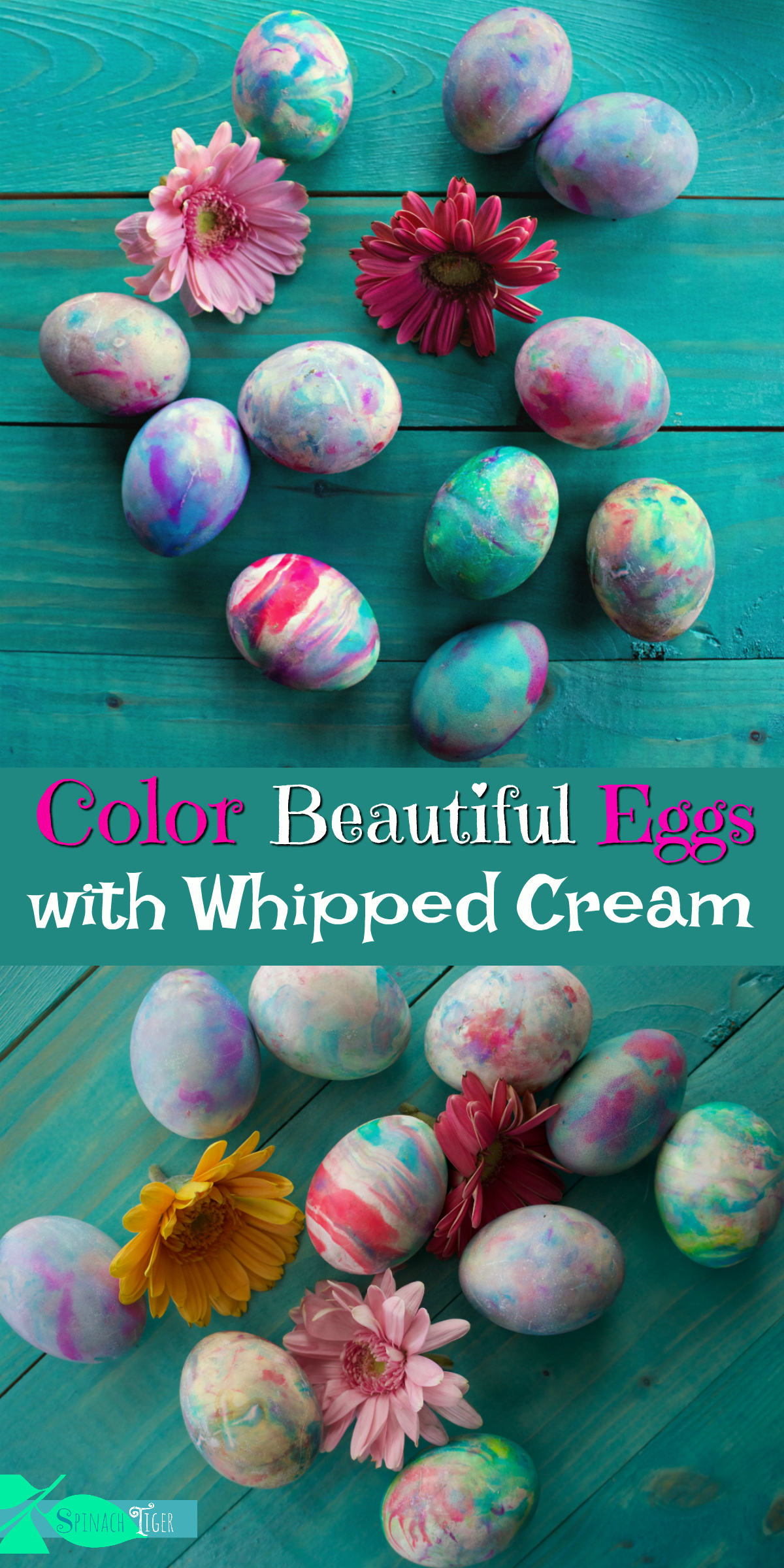Color Eggs with Whipped Cream