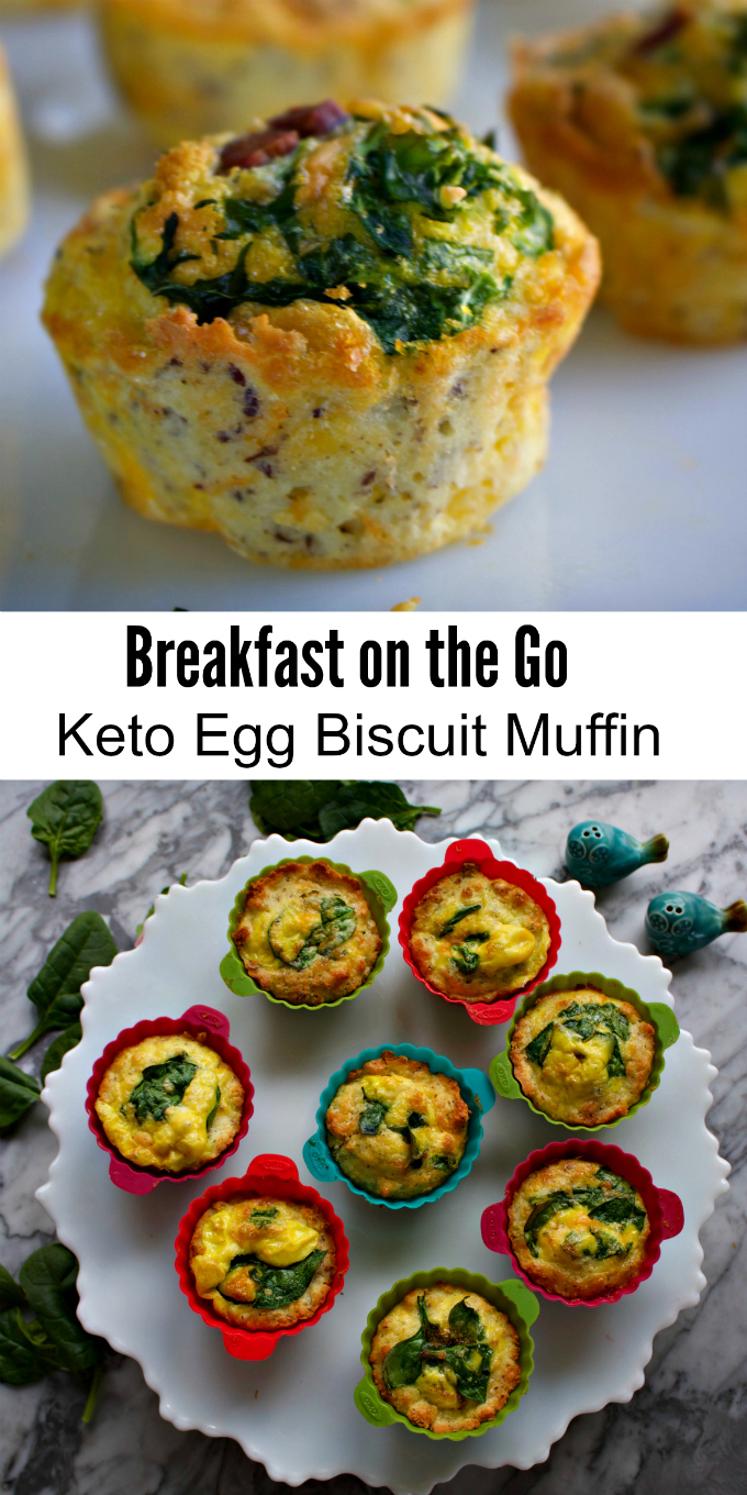 How to Make Breakfast on the Go. Keto Egg Biscuit from Spinach Tiger