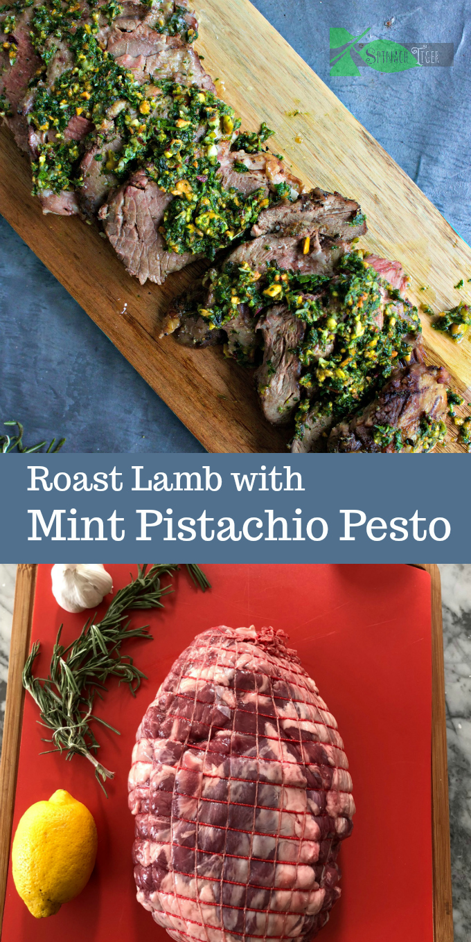 How to Cook Roast Lamb the Easy Way with recipe for Mint Pistachio Pesto from Spinach Tiger