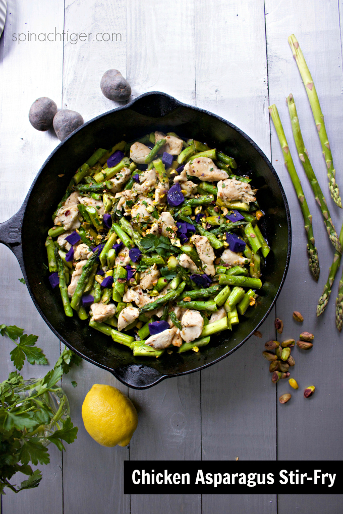 Healthy Chicken and Asparagus Stir-Fry Recipe from Spinach Tiger