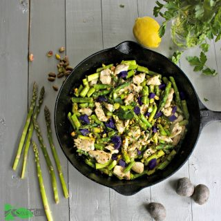 Chicken and Asparagus Stir-fry Recipe with Lemon and Pistachios