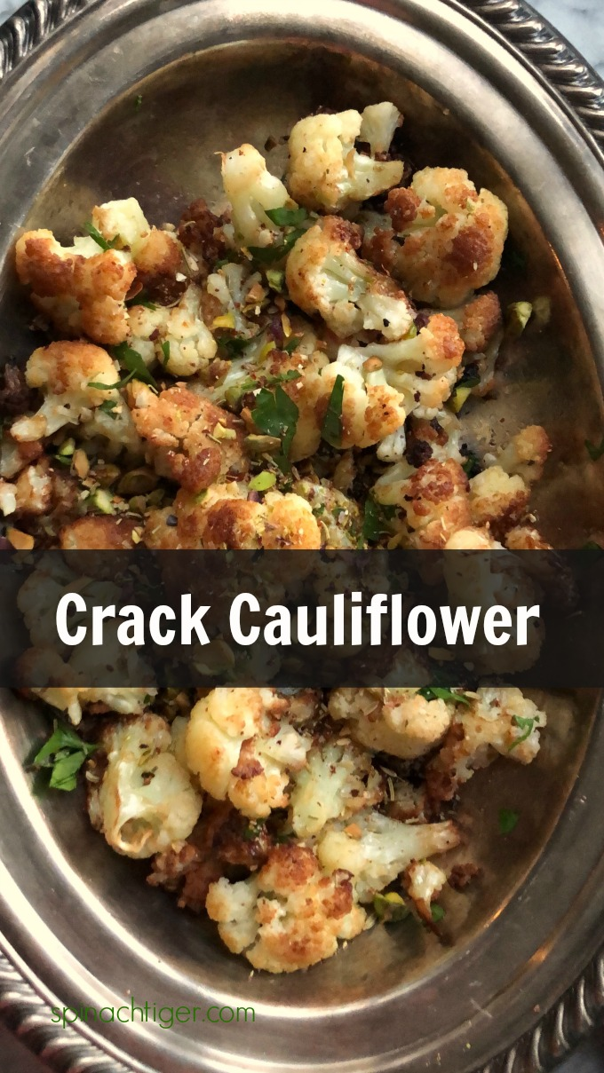 Flash Fried Crack Cauliflower from Spinach TIger