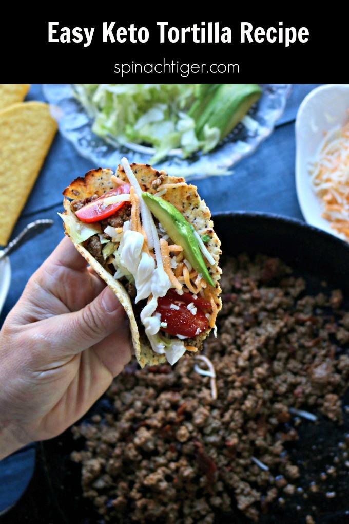 Keto Tortilla for Keto Tacos