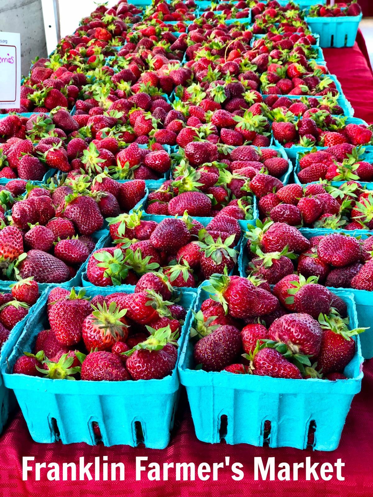 Franklin Farmer's Market Strawberries #franklin #strawberries