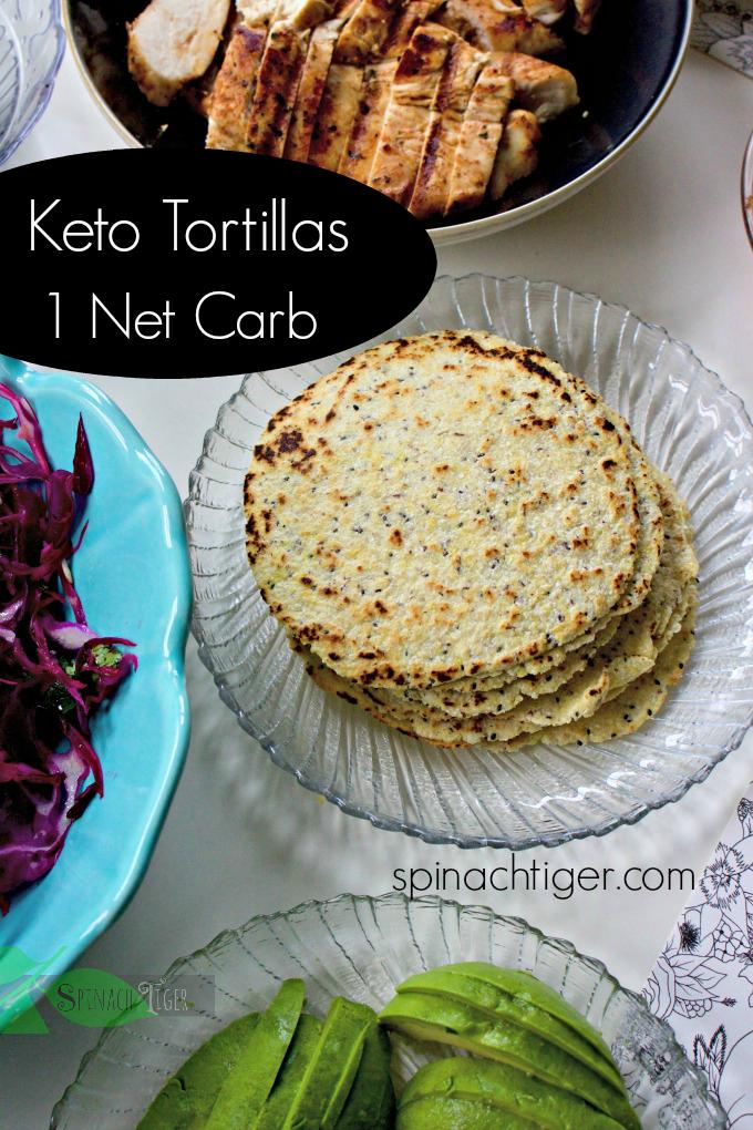 Keto Grain Free Tortillas from Spinach Tiger