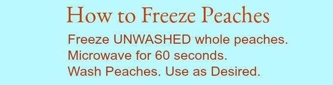 Freeze Peaches