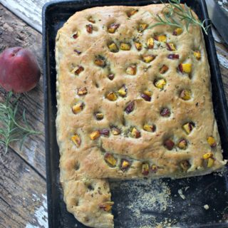 Peach Rosemary Focaccia the Comfort Food of Summer
