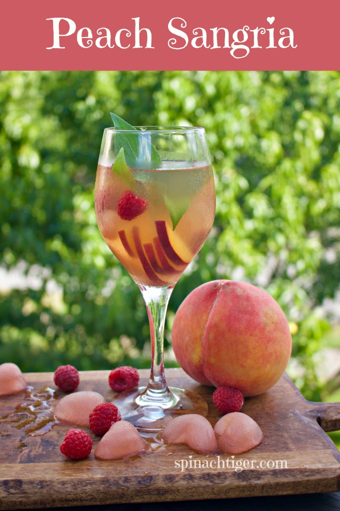 Peach Sangria Made with Simple Syrup