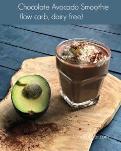 low carb chocolate avocado smoothie
