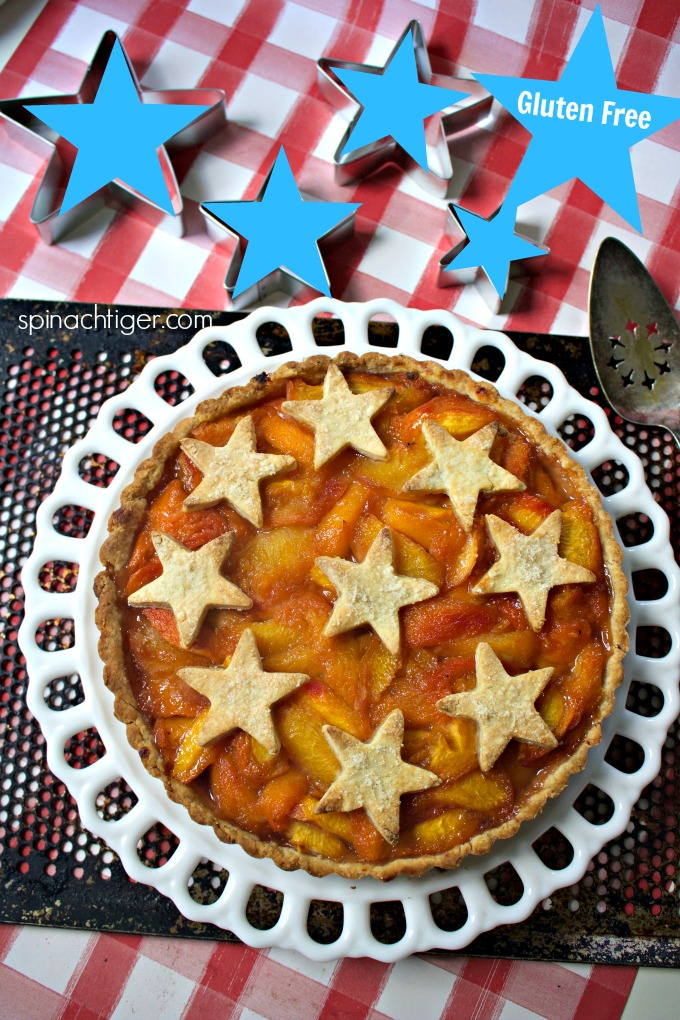 Gluten Free Peach Tart from Spinach Tiger