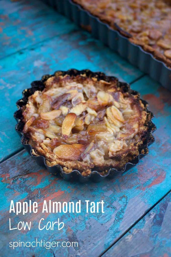 Grain Free Apple Almond Tart Low Carb, Sugar Free, Gluten Free from Spinach Tiger