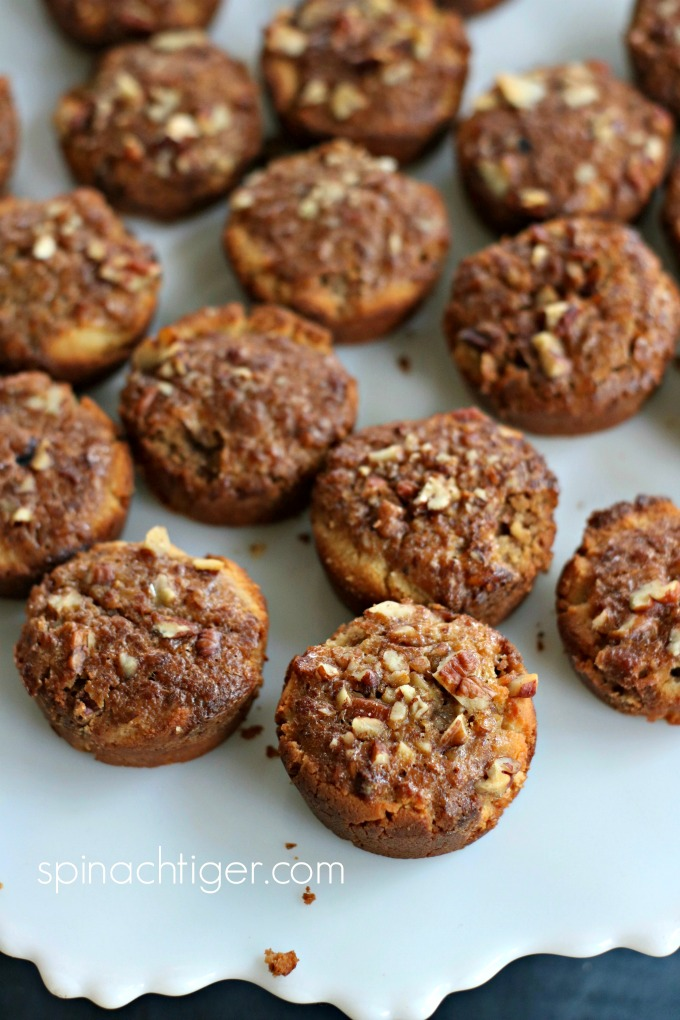 Low Carb Grain Free Pecan Tassies from Spinach Tiger