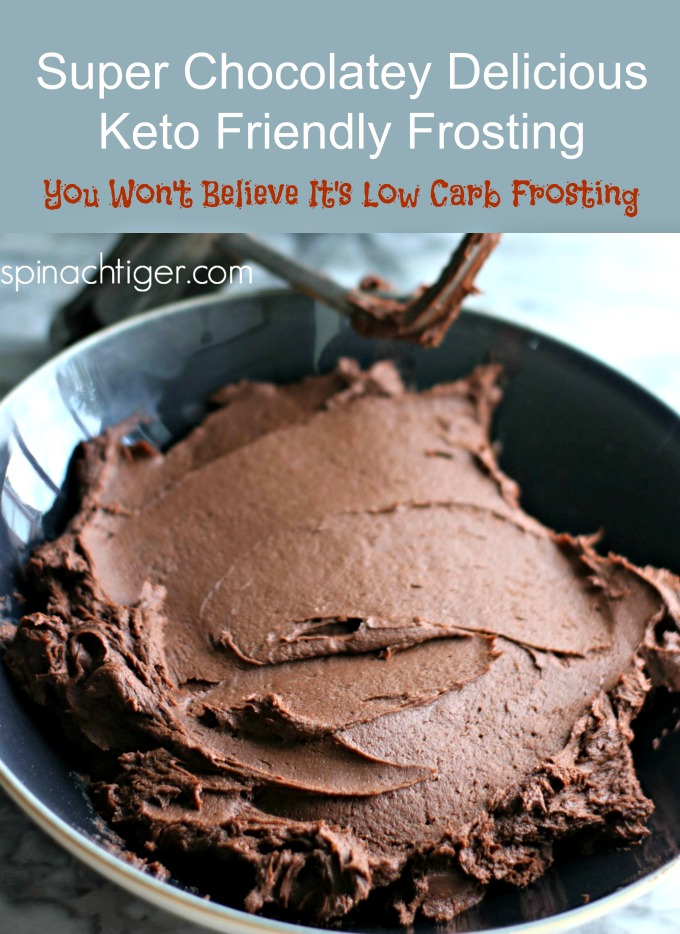 Low Carb Chocolate Buttercream Frosting, Keto Friendly from Spinach Tiger