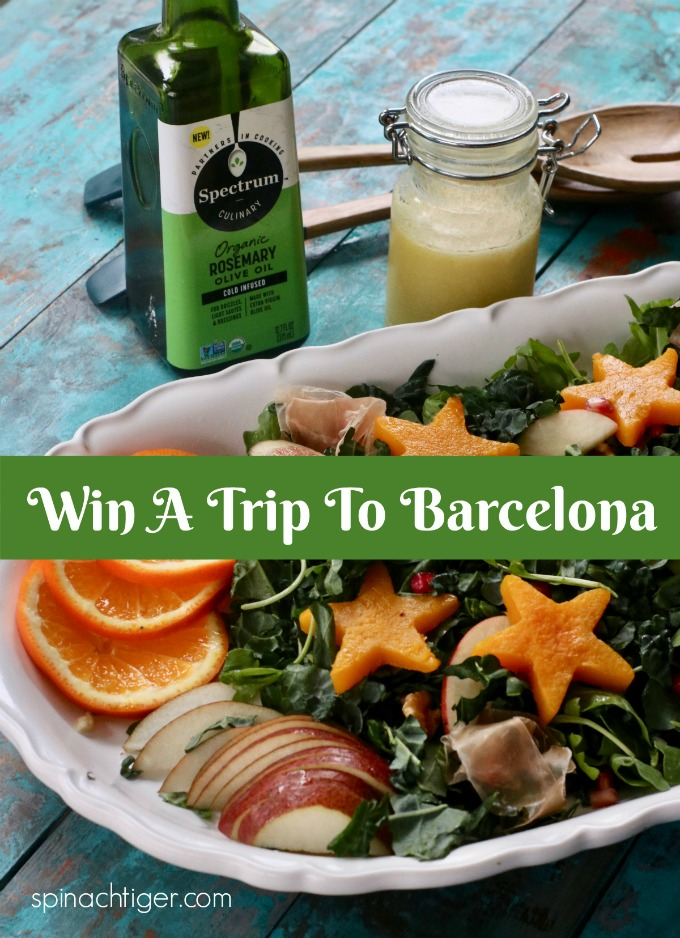 Festive Kale Salad, Win a Trip to Barcelona