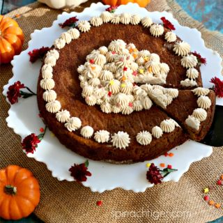 Grain Free Pumpkin Spice Cake with Pumpkin Spice Cream Cheese Frosting