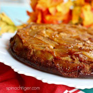 Low Carb Apple Upside Down Cake, Grain Free, Keto Friendly