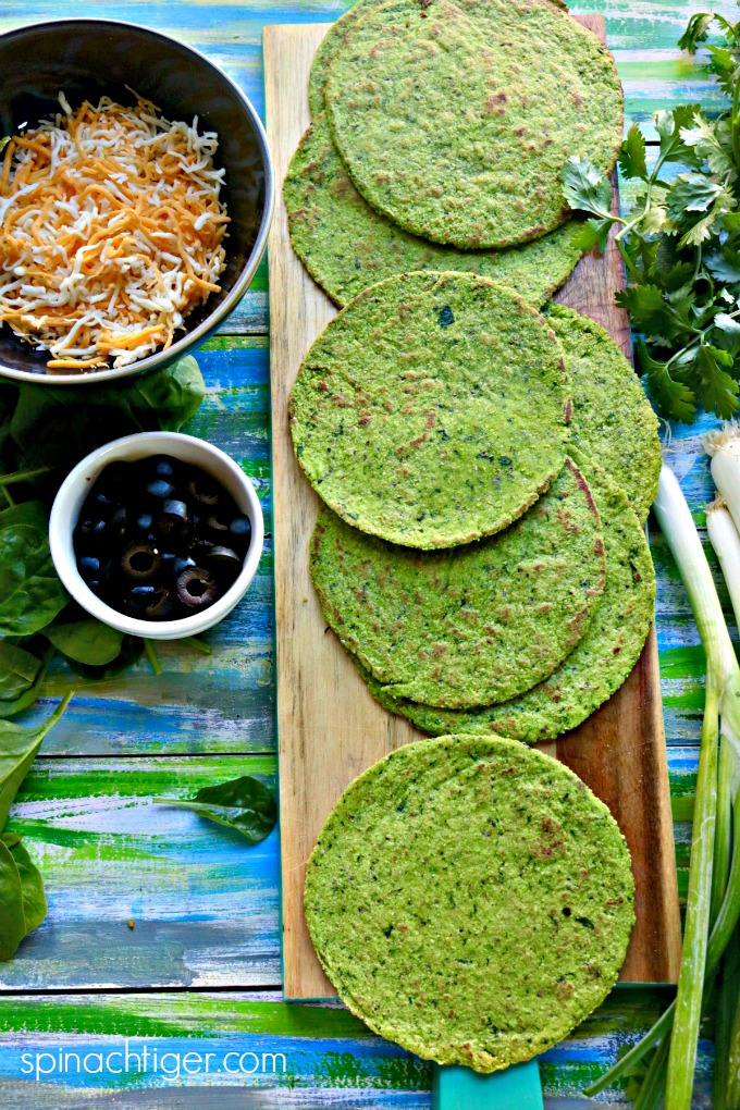 Grain Free Keto Spinach Tortillas from Spinach Tiger