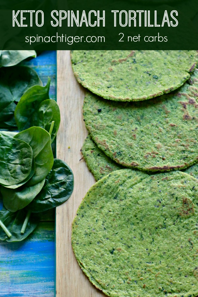 Grain Free Keto Spinach Tortillas from Spinach Tiger #keto #spinach #tortillas #lowcarb #almondflour