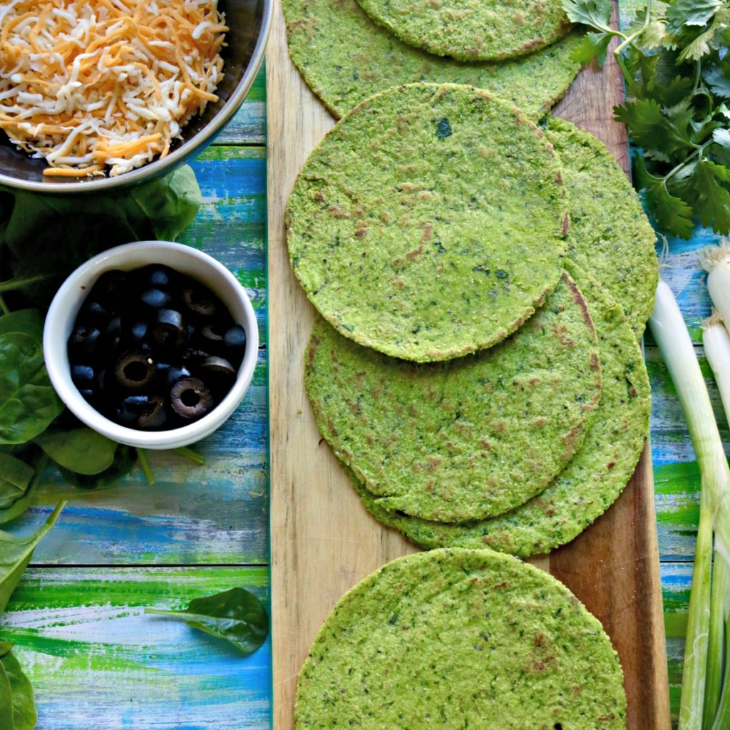 Grain Free Spinach Tortillas for Low Carb Mexican Recipes from Spinach Tiger