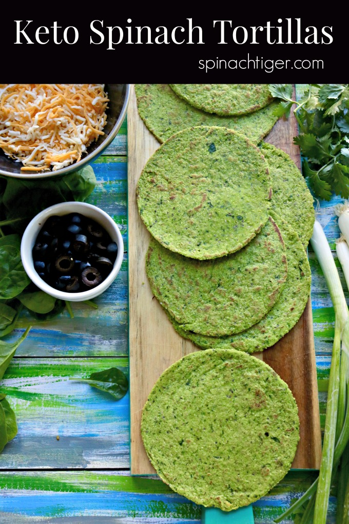 Keto Spinach tortillas #tortillas #spinach #keto #lowcarb