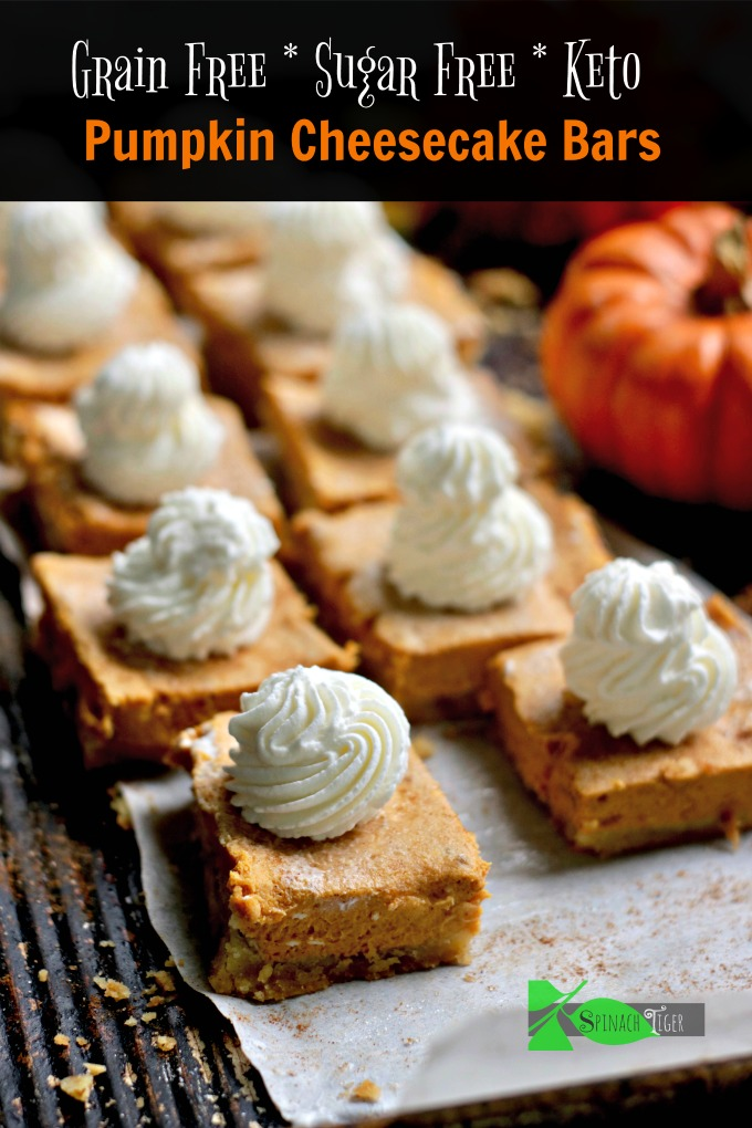 Pumpkin Cheesecake Bars Low Carb