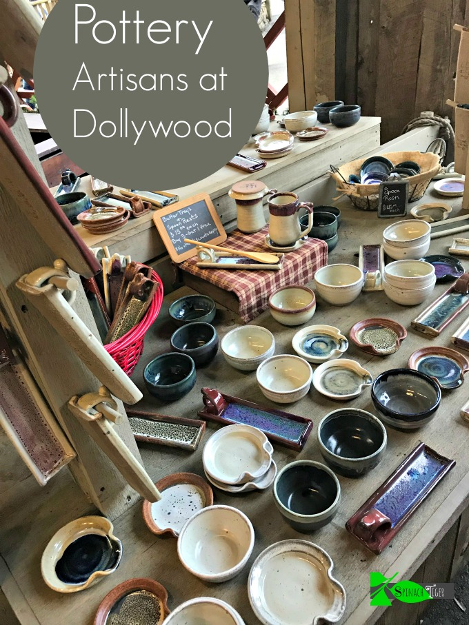 Homemade Pottery Christmas at Dollywood from Spinach Tiger