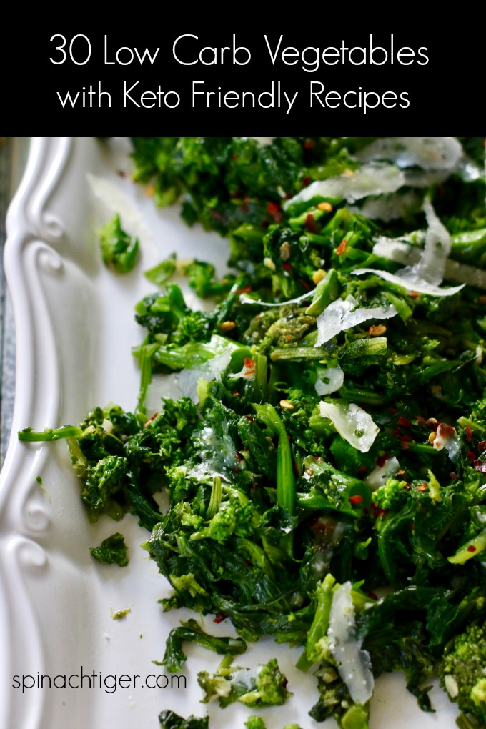 Low Carb Vegetables with Recipes from Spinach Tiger #lowcarbvegetablerecipes #spinachtiger via @angelaroberts