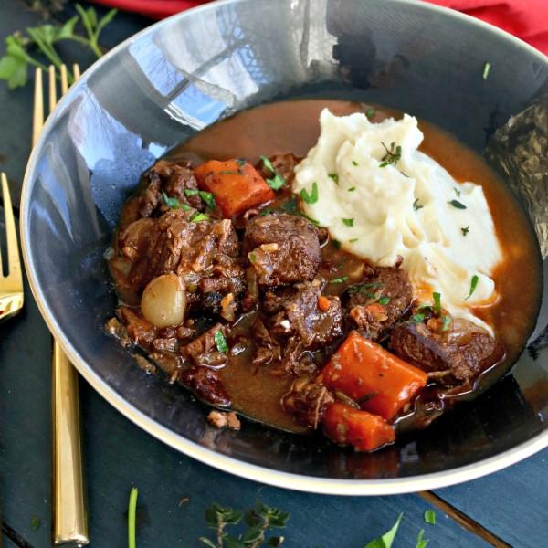 Uncomplicated Beef Bourguignon, Paleo, Keto Friendly
