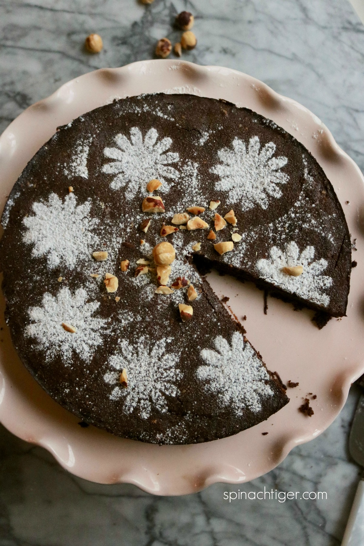 Italian Grain Free Chocolate Hazelnut Cake from Spinach Tiger