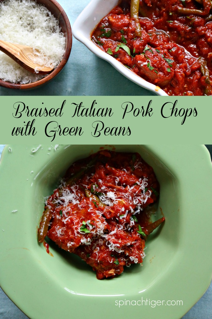 Slow Cooked Pork Chops with Green Beans from Spinach Tiger