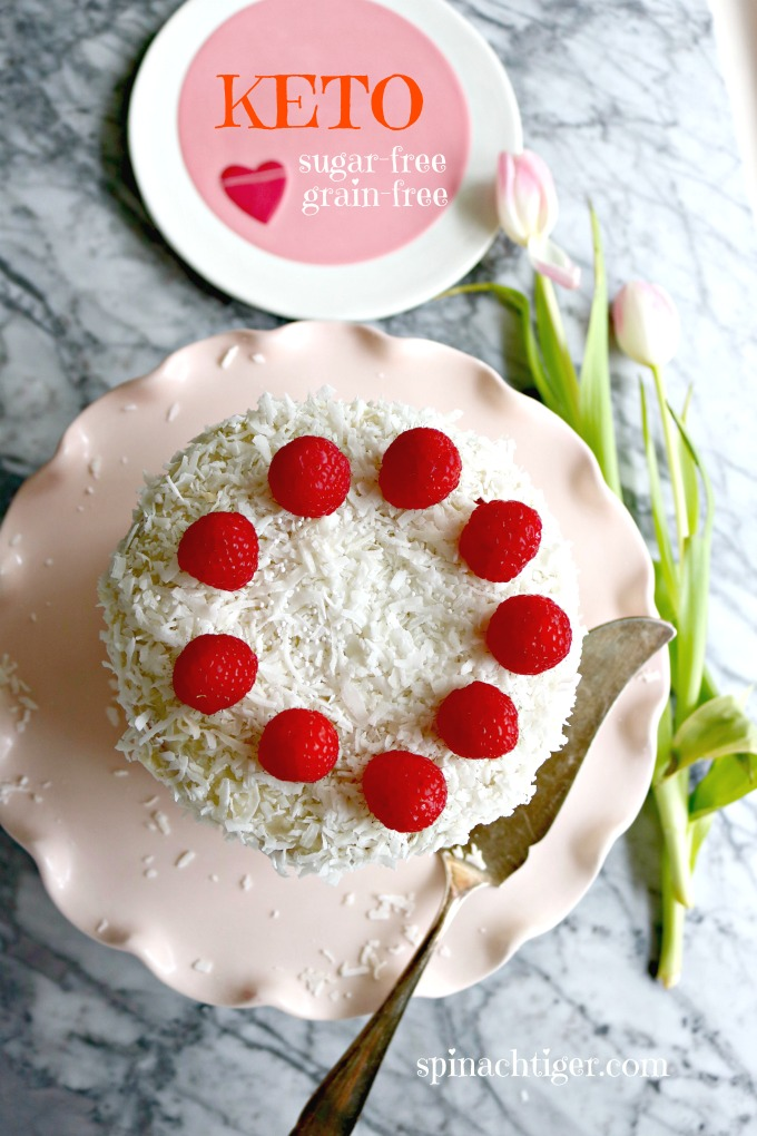 Keto Triple Layer Cocont Cake