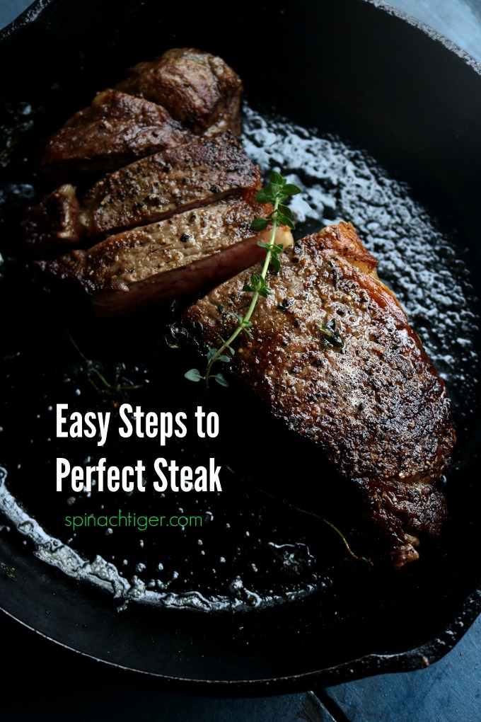 Easy Steps to New York Strip Steak Recipe from Spinach Tiger