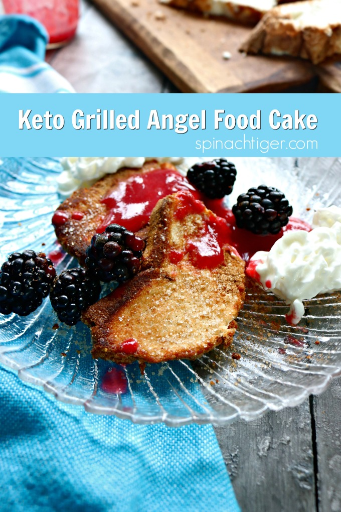 Keto Grilled Angel Food Cake