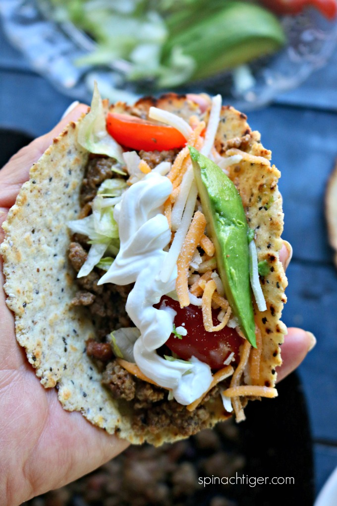 Ground Beef Taco Meat for Tacos from Spinach Tiger