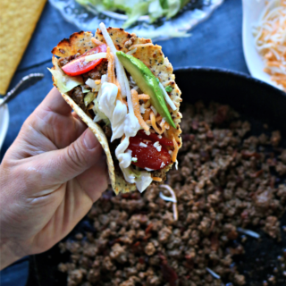 Keto Ground Beef Taco from Spinach TIger