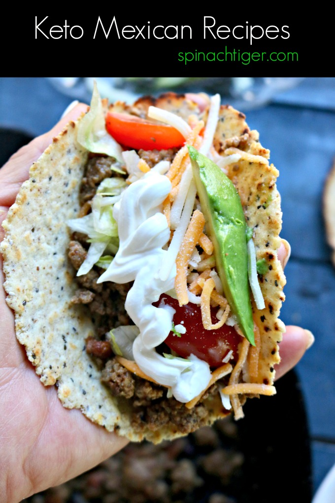 Low Carb Mexican Recipes from Spinach Tiger #Mexicanrecipes #ketorecipes #lowcarbMexican #ketoMexican #ketoTaco #tacos