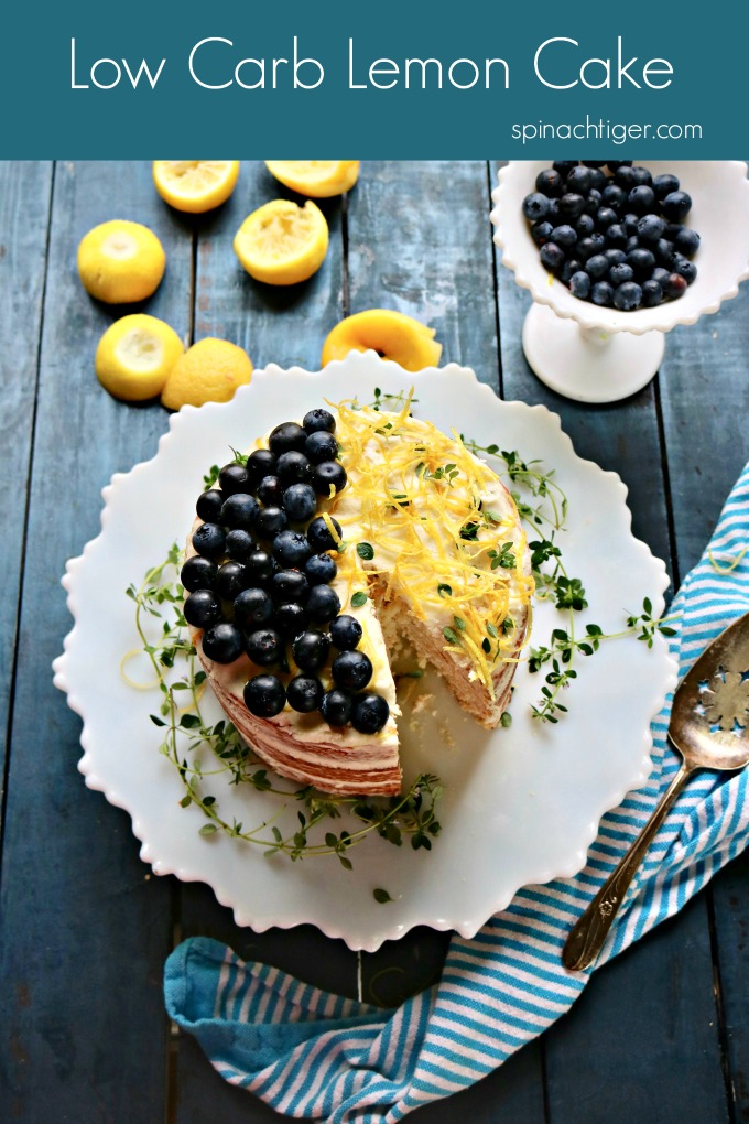 Keto Naked Lemon Cake from Spinach Tiger #ketocake #lemoncake
