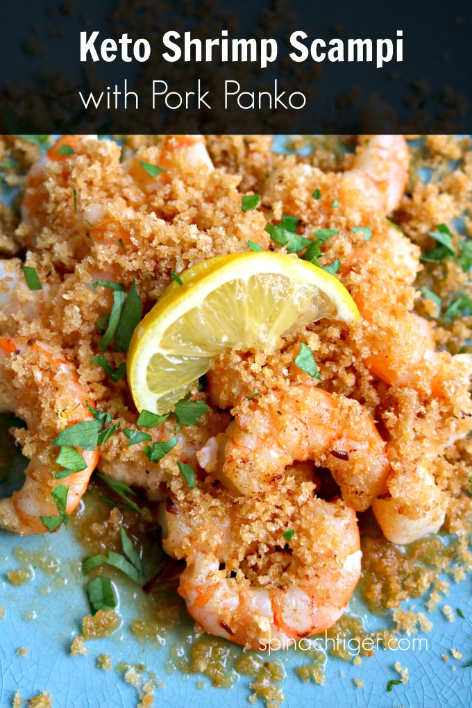 Pork Panko Keto Shrimp Scampi from Spinach TIger