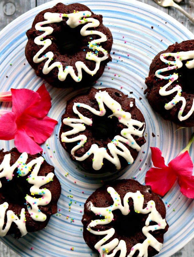 Keto Chocolate Bundt Cakes