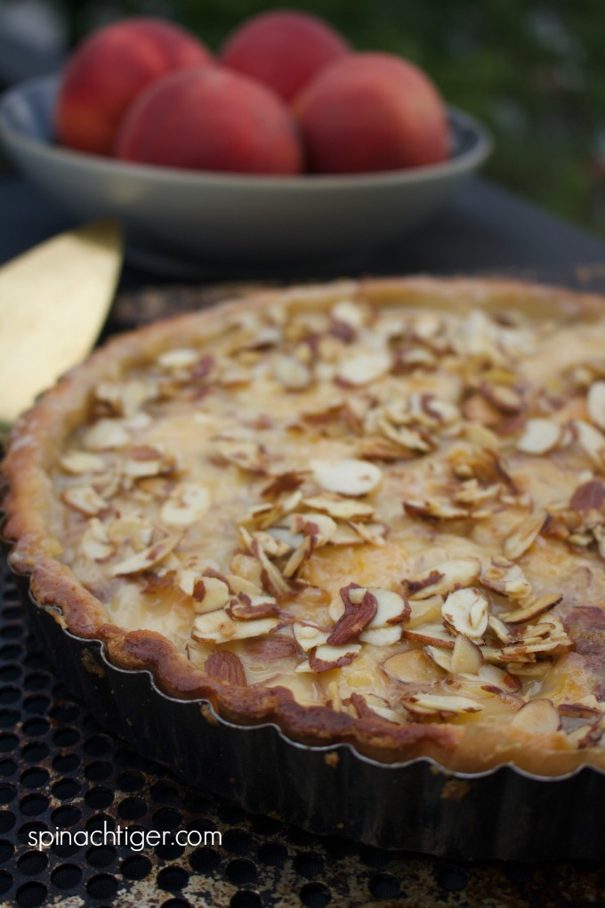 Grain Free Peach Almond Tart from Spinach TIger