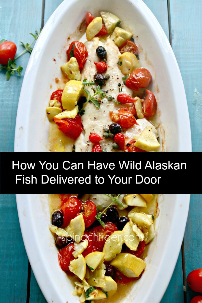 Make Wild Alaskan Black Bass Recipe with Olives, Tomatoes, Capers, Yellow Squash #sitkasalmonshares
